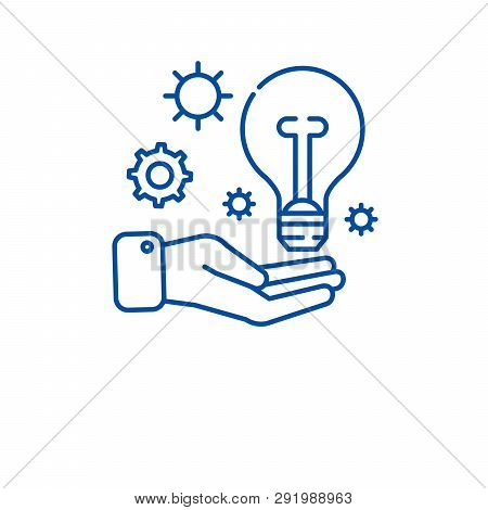 Idea Experience Line Icon Concept. Idea Experience Flat  Vector Symbol, Sign, Outline Illustration.