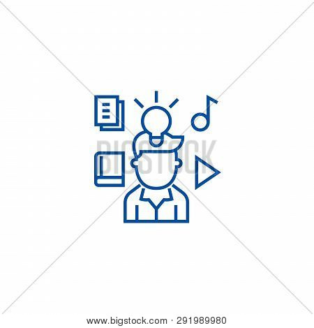 Intellectual Property Rights Line Icon Concept. Intellectual Property Rights Flat  Vector Symbol, Si