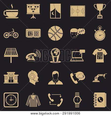 Timepiece Icons Set. Simple Set Of 25 Timepiece Icons For Web For Any Design