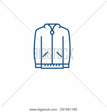 Jumper Sweatshirt Line Icon Concept. Jumper Sweatshirt Flat  Vector Symbol, Sign, Outline Illustrati
