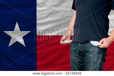 Recession Impact On Young Man And Society In American State Of South Texas