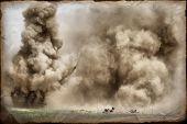 Explosion. Grange stile poster