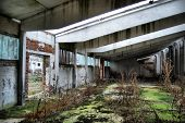 HDR.Lost city. Near Chernobyl area. Modern ruins. Ukraine. Kiev region poster