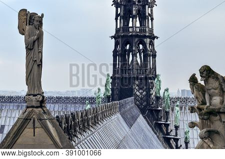 Art And Architecture From Notre Dame Roof
