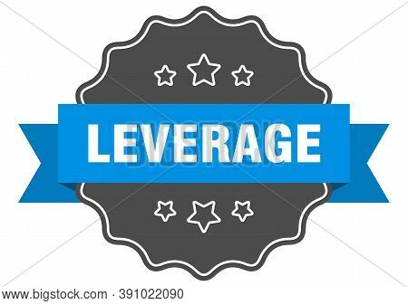 Leverage Label. Leverage Isolated Seal. Sticker. Sign