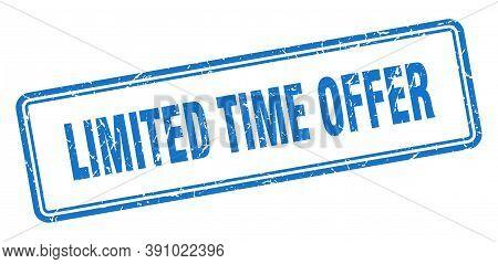 Limited Time Offer Stamp. Limited Time Offer Square Grunge Sign.