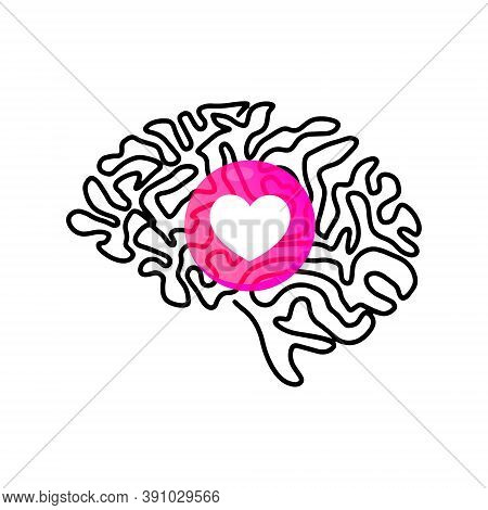 World Mental Health Day. Mental Health Medical Treatment Vector Illustration. Hand Hand Drawing Huma