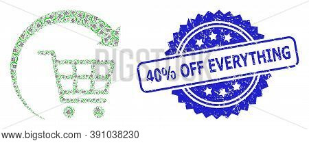 40 Percent Off Everything Corroded Seal Imitation And Vector Recursion Mosaic Repeat Shopping Cart.