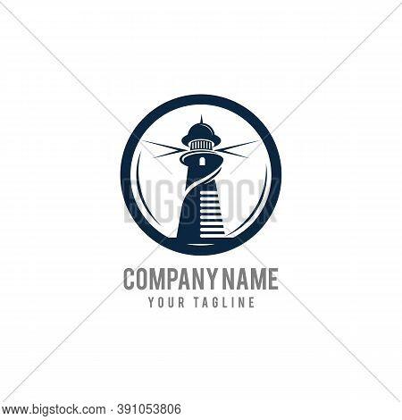 Beacon Logo Vector Design Template,lighthouse Securuty Logo Icon Vector Template