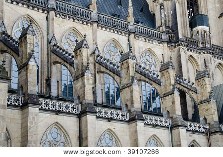 Architectural detail in the new cathedral (Neuer Dom) in Linz, Upper Austria