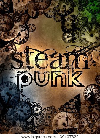 Steam Punk Logo Sign