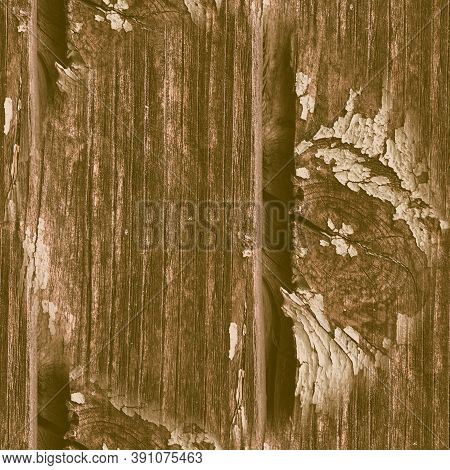 Brown Crackle Paint. Worn Marble Surface. Ancient Dirty Frame. Nature Wood Background. Crackle Paint