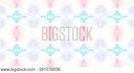 Seamless Aquarelle Pattern. Abstract Aquarelle Tie Dye Ceramic. Colorful Summer Background. Water Co