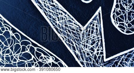 Doodle Background. White Line Texture. Sky Hand Draw Scrawl. Scribble Pencil. Nautical Abstract Scri