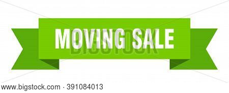 Moving Sale Ribbon. Moving Sale Paper Band Banner Sign