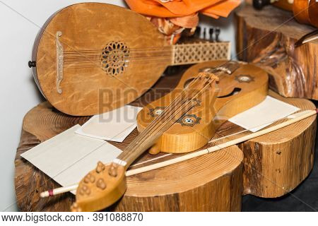 The Wooden Vielle: An European Medieval Bowed Stringed Instrument.