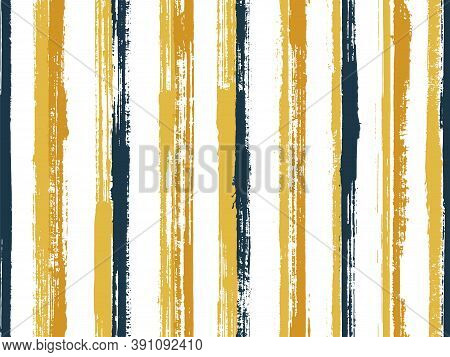 Pain Freehand Parallel Lines Vector Seamless Pattern. Traditional Cotton Fabric Print Design. Scratc