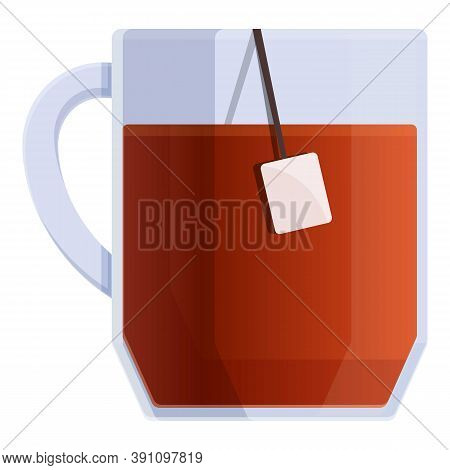 Black Tea Mug Icon. Cartoon Of Black Tea Mug Vector Icon For Web Design Isolated On White Background