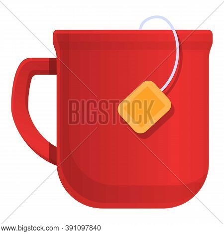 Red Tea Mug Icon. Cartoon Of Red Tea Mug Vector Icon For Web Design Isolated On White Background