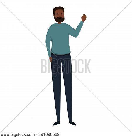 Historical African Teacher Icon. Cartoon Of Historical African Teacher Vector Icon For Web Design Is