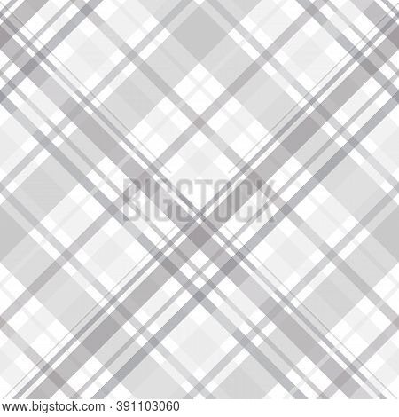 Seamless Pattern In Cute Light Grey And White Colors For Plaid, Fabric, Textile, Clothes, Tablecloth