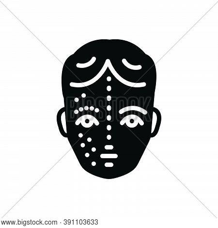 Black Solid Icon For After Before Face Rejuvenation Skin Wrinkle Pimple Disease