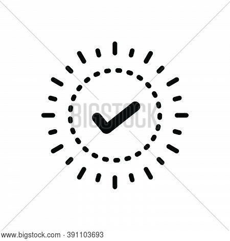 Black Solid Icon For Check True Checklist Mark Sign Choice Accept Agree Approved Confirm