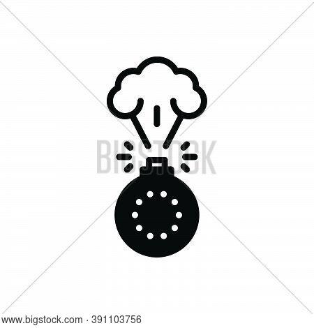 Black Solid Icon For Destruction Attack Bomb Damage Danger Dangerous Explosion Explosive Fire Flamma