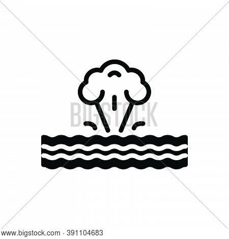 Black Solid Icon For Phenomenon Incidence Cyclone Wind Crush Danger Natural Storm Atmospheric Destru