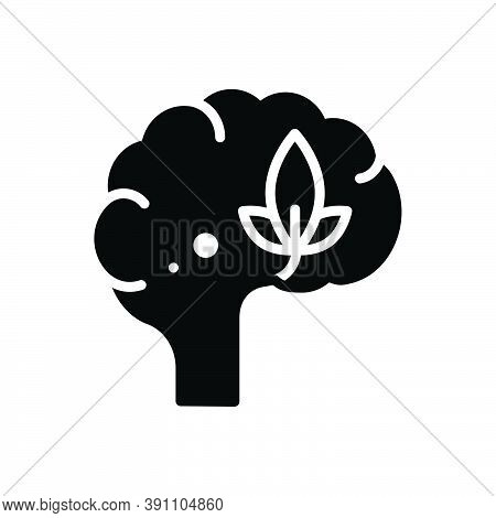 Black Solid Icon For Psychology Head Optimistic Neurology Mind Brainstorm Cerebellum Memory