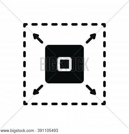 Black Solid Icon For Enhance Enlarge Develop Extend Increasing Maximize Raise