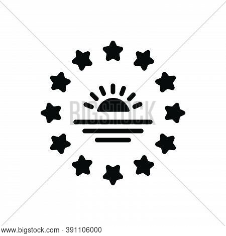 Black Solid Icon For Southern South Sun Nature Direction Rise