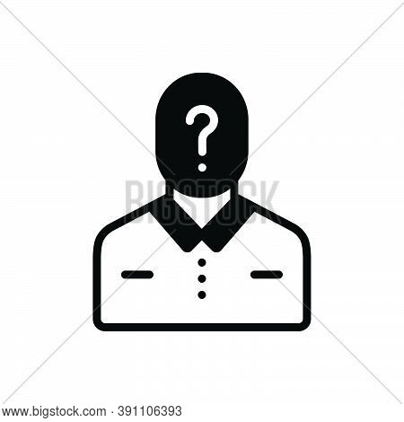 Black Solid Icon For Guess Who Question Anonymous Conjecture Presumption Inference Suspicious Suspec