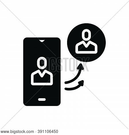 Black Solid Icon For Insist Assert Contend Demand Maintain Phone Call Communication