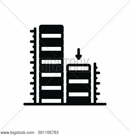 Black Solid Icon For Relatively Building Architecture Approximately Comparatively Rather Almost Near