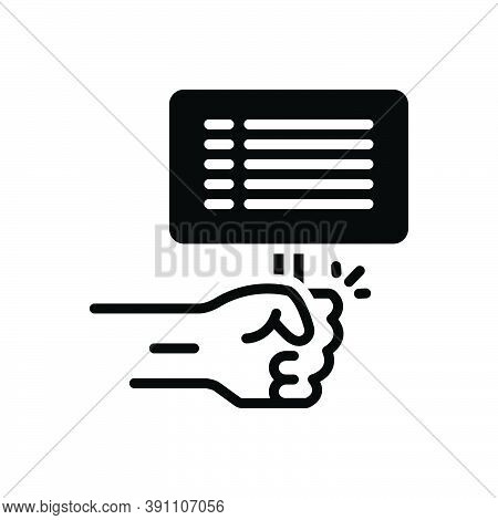 Black Solid Icon For Against Contrary Opposed-to Resistance Struggle Revolution Power Fight Liberty