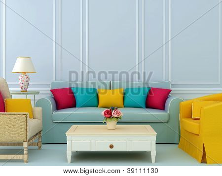 Composition With Sofa And Armchairs