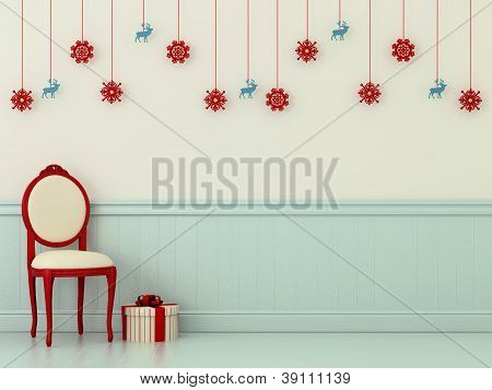 Chairs With Christmas Decorations
