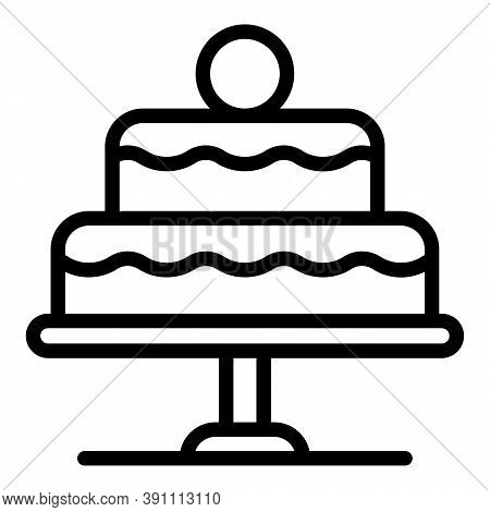 Cook Cake Icon. Outline Cook Cake Vector Icon For Web Design Isolated On White Background