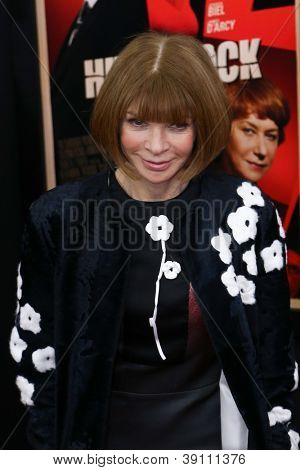 NEW YORK-NOV 18: Anna Wintour attends the premiere of
