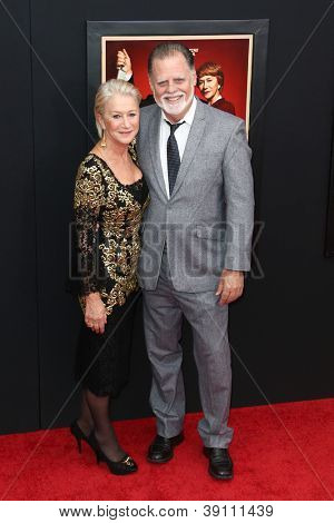 NEW YORK-NOV 18: Actress Helen Mirren and husband Taylor Hackford attend the premiere of