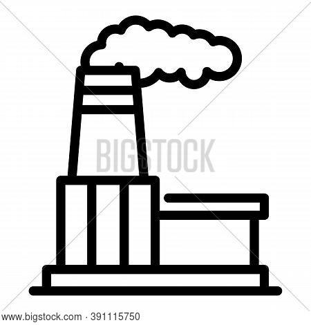 Industrial Factory Icon. Outline Industrial Factory Vector Icon For Web Design Isolated On White Bac
