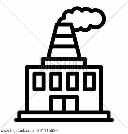 Global Industrial Factory Icon. Outline Global Industrial Factory Vector Icon For Web Design Isolate