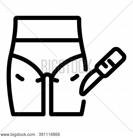 Scalpel Plastic Surgery Icon. Outline Scalpel Plastic Surgery Vector Icon For Web Design Isolated On