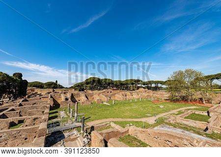 Ostia Antica Archeological Site, Colony Founded In The 7th Century B.c., Rome, Latium, Italy, Europe