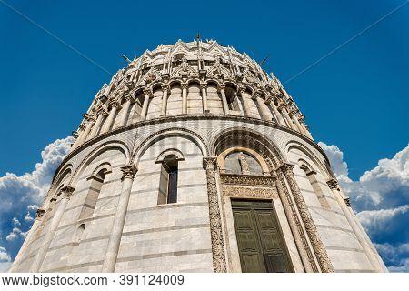 Battistero Di San Giovanni, Pisa Baptistery, Saint John Baptist, In Romanesque Gothic Style, Piazza