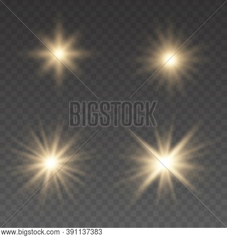 Light Effect Bright Star. Beautiful Light For Illustration. Christmas Star. Flashes And Glares. Glow