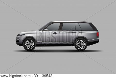 Realistic Suv Car  Side View Vector Illustration