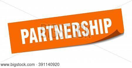 Partnership Sticker. Partnership Square Sign. Partnership. Peeler