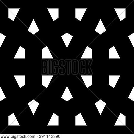 Kites. Mosaic Ornament. Grid Background. Ethnic Motif. Geometric Grate Wallpaper. Fence Backdrop. Wi